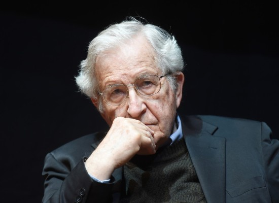 The US american social critic Noam Chomsky delivers a speech in the Center for Art and Media in Karlsruhe, Germany, 30 May 2014. Photo: Uli Deck/dpa, Image: 195038701, License: Rights-managed, Restrictions: GERMANY OUT, Model Release: no, Credit line: Profimedia, AFP